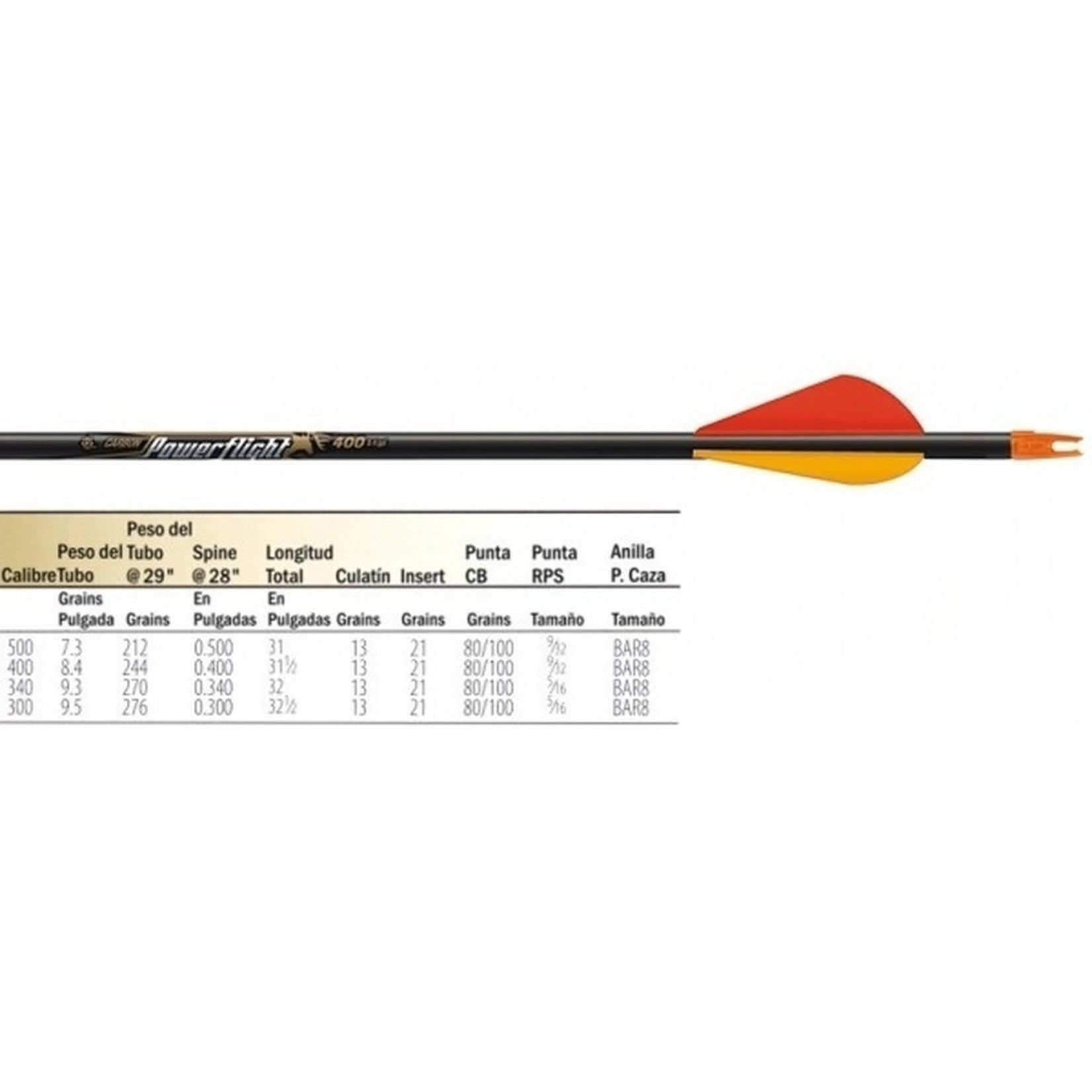 Easton ARROW POWERFLIGHT 400 2'' BLAZER