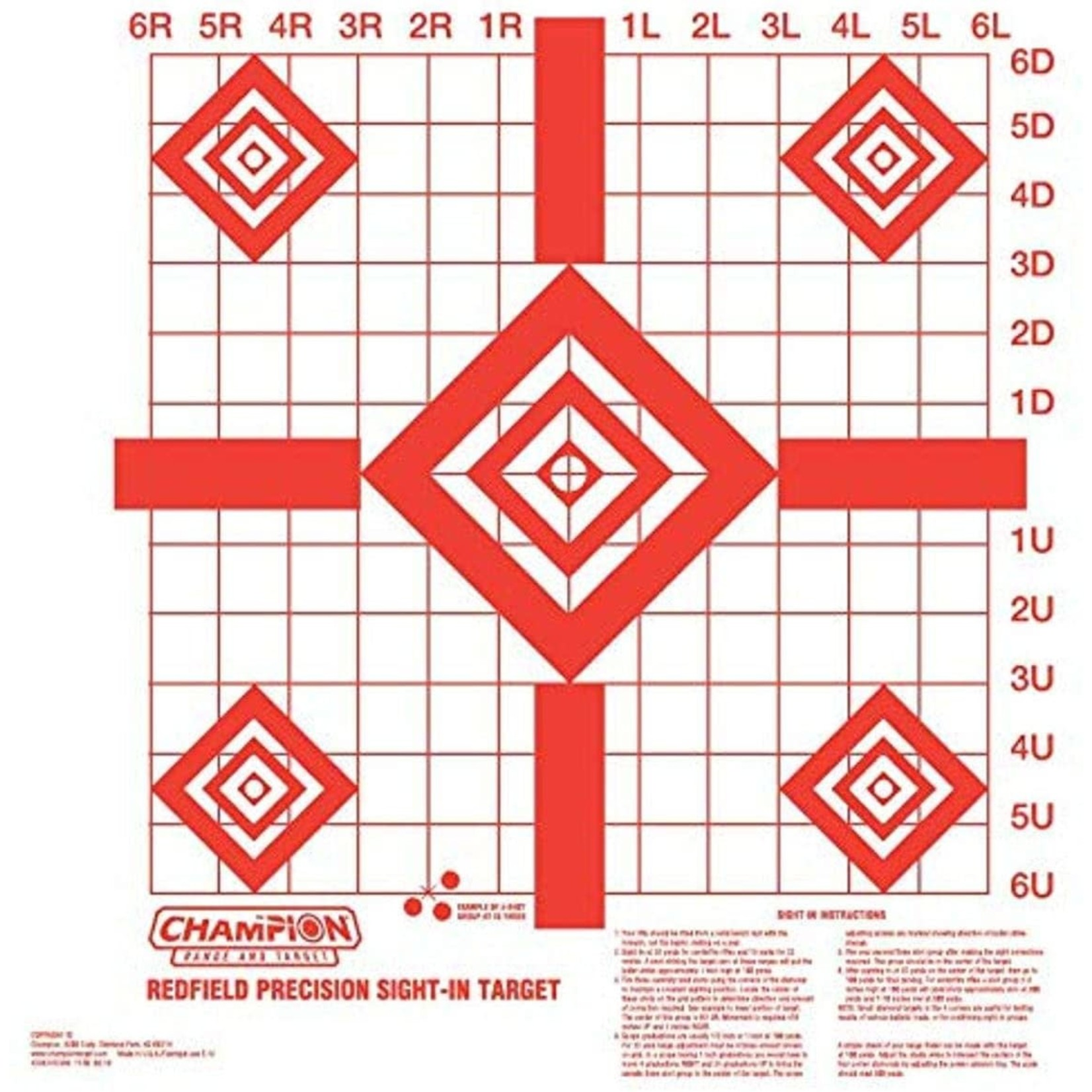 Champion Redfield Precision Sight-In Target