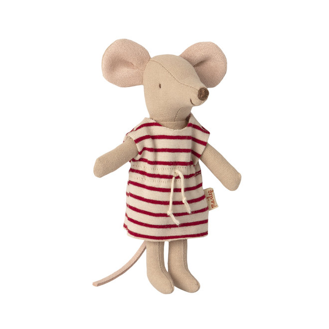 Big Sister Mouse with Pink Nightdress In Matchbox