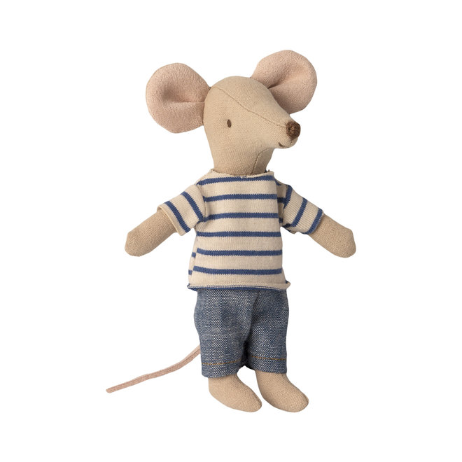 Big Brother Mouse with Striped PJ's in Matchbox