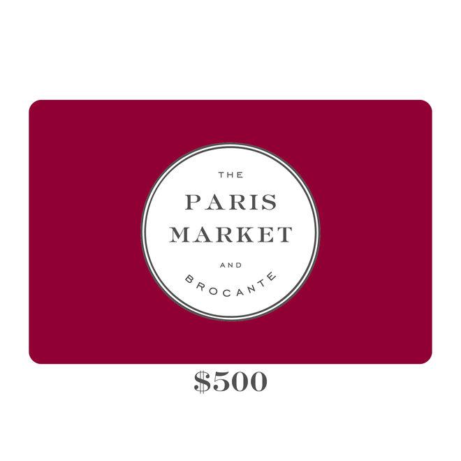 Paris Market Gift Card $500