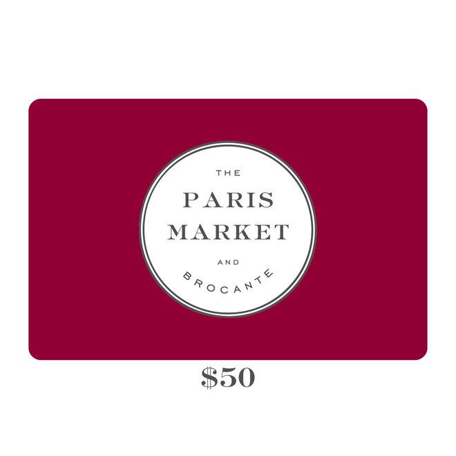 Paris Market Gift Card $50