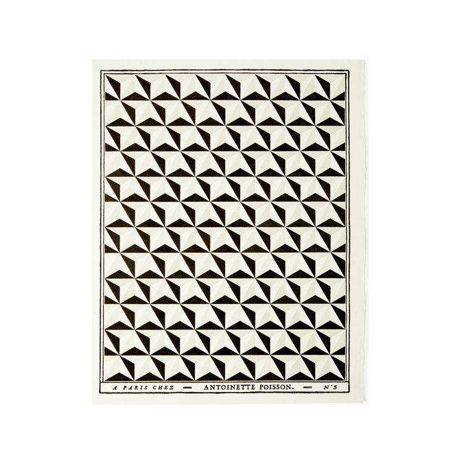 Pointes de Diamant Black Grey Domino Paper