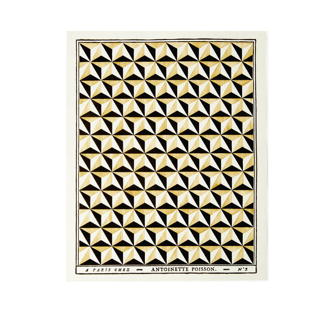 Pointes de Diamant Domino Paper (Black Ocher)