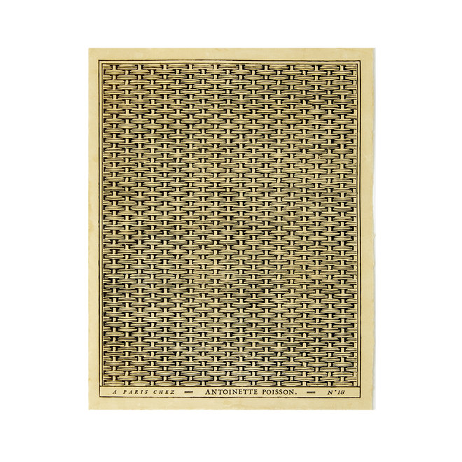 Tressage d'Osier Black bacco Domino Paper