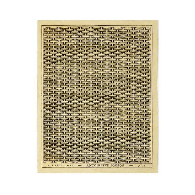 Tressage d'Osier Domino Paper (Black bacco)