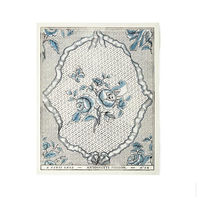 Rubans et Oiseaux Domino Paper (Black Blue)