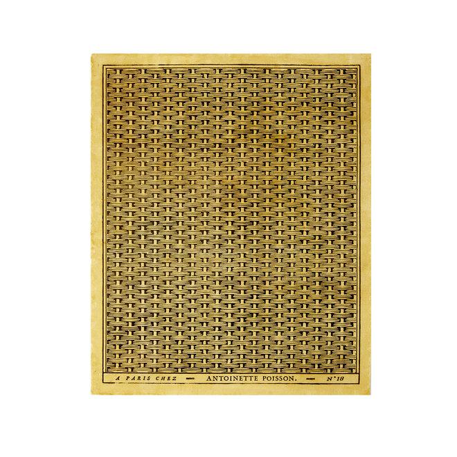 Tressage d'Osier Domino Paper (Black Yellow)