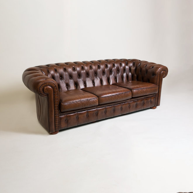 1950s Leather Chesterfield Sofa