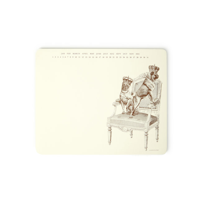 French Royalty Mousepad Notepad