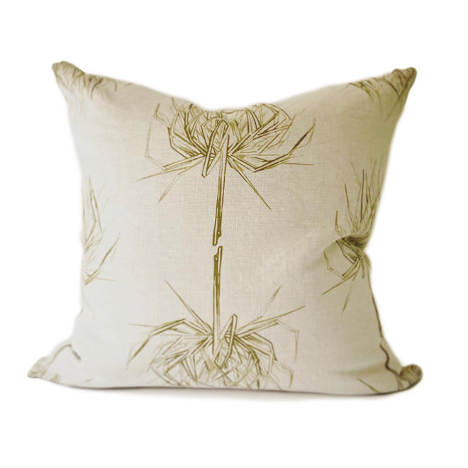Palm Pillow in  Olive