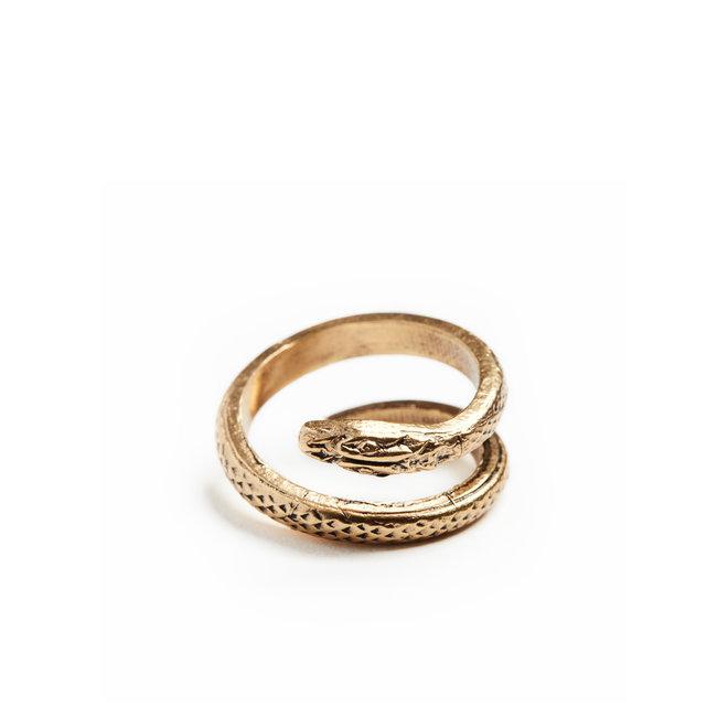 Russian Gold Serpent Ring