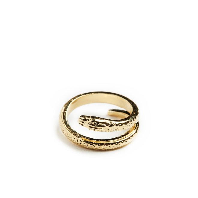 14K Gold Serpent Ring