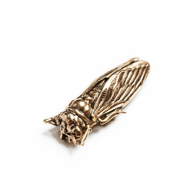 24k Russian Gold Cicada Brooch