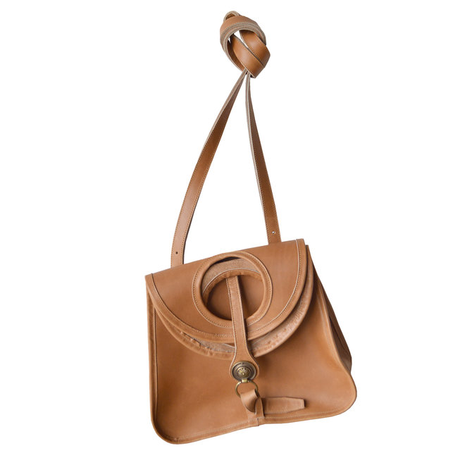 Amelie Crossbody Tan Leather Bag, Natural