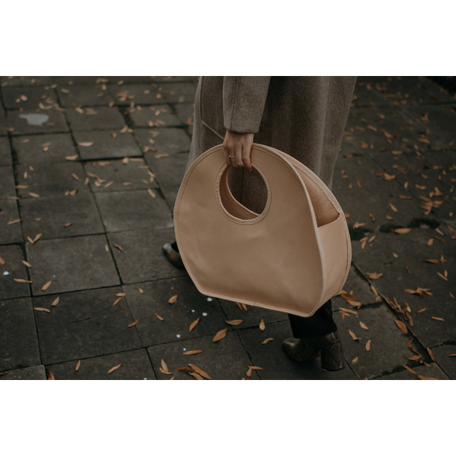 Demi Lune Natural Leather Bag