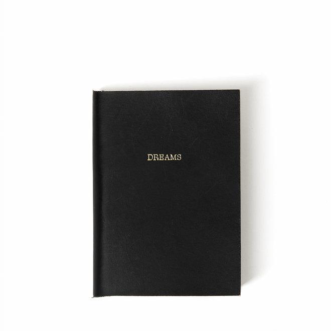 Dreams  Mini Leather Noir Journal