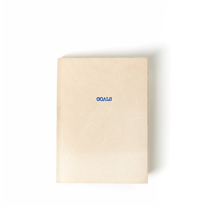 Goals  Mini Leather Natural Journal