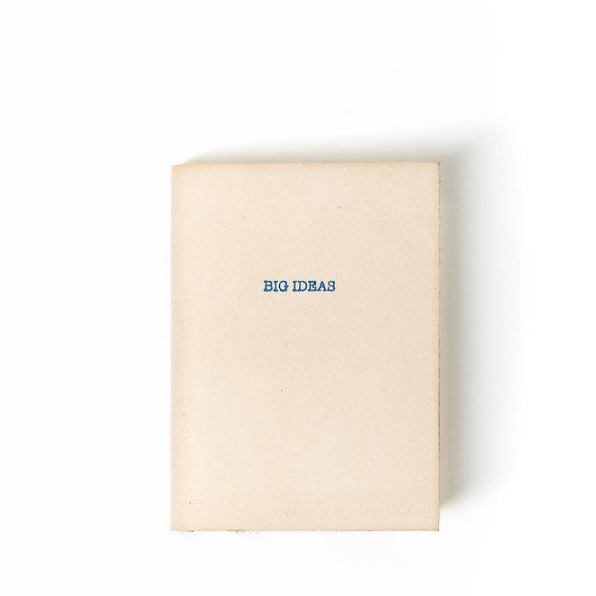 Big Ideas Mini Natural Leather Journal