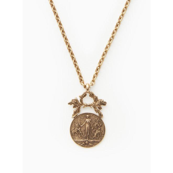 La Semeuse Coin Pendant Necklace