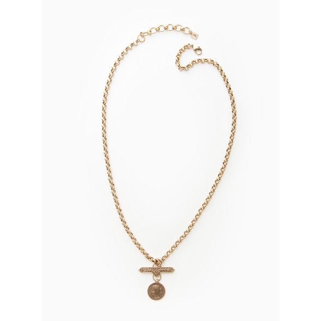 Ilari Coin Pendant Necklace