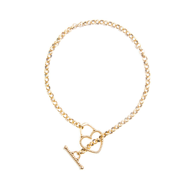 Carine Necklace on Rolo Chain