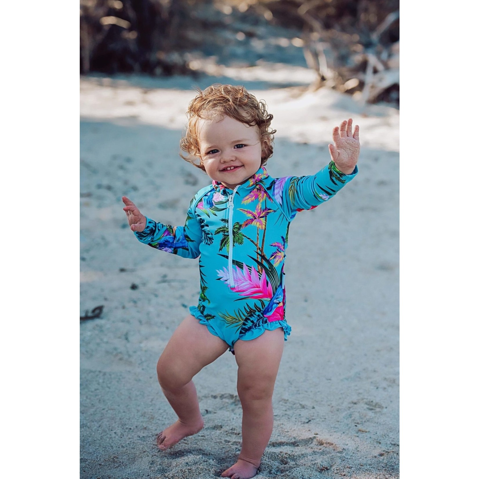 Tribe Tropical Kingfisher Cove Baby Swimsuit