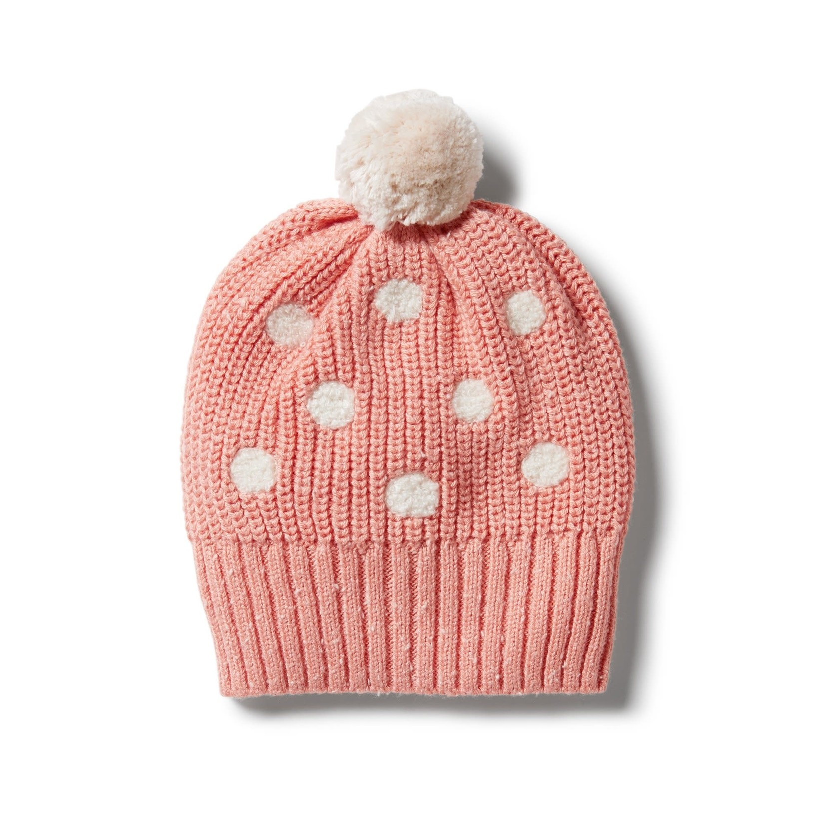 Wilson & Frenchy Wilson & Frenchy Knitted Spot Hat Flamingo Fleck