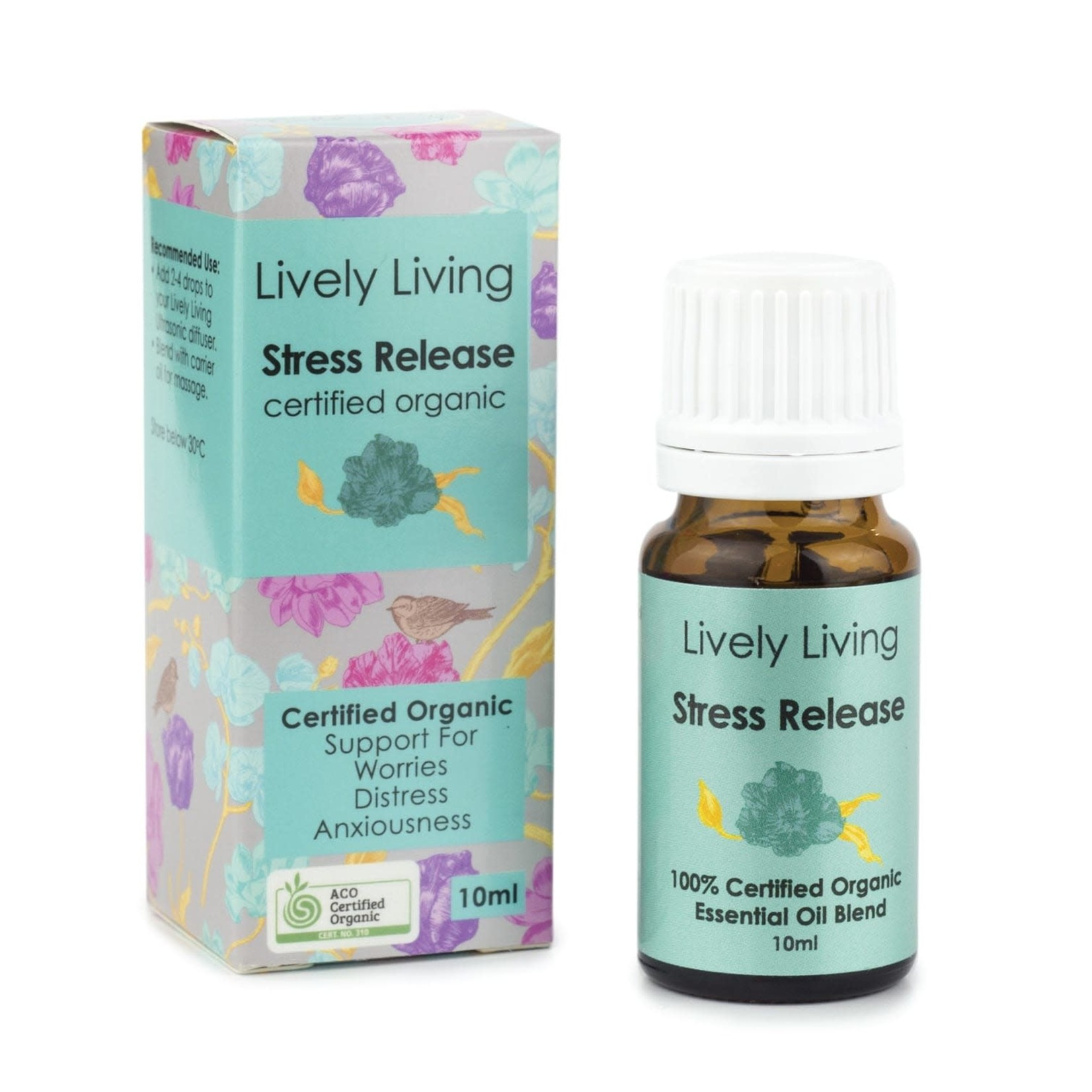 Lively Living Lively Living Organic Essential Oil 10 ml Stress Release
