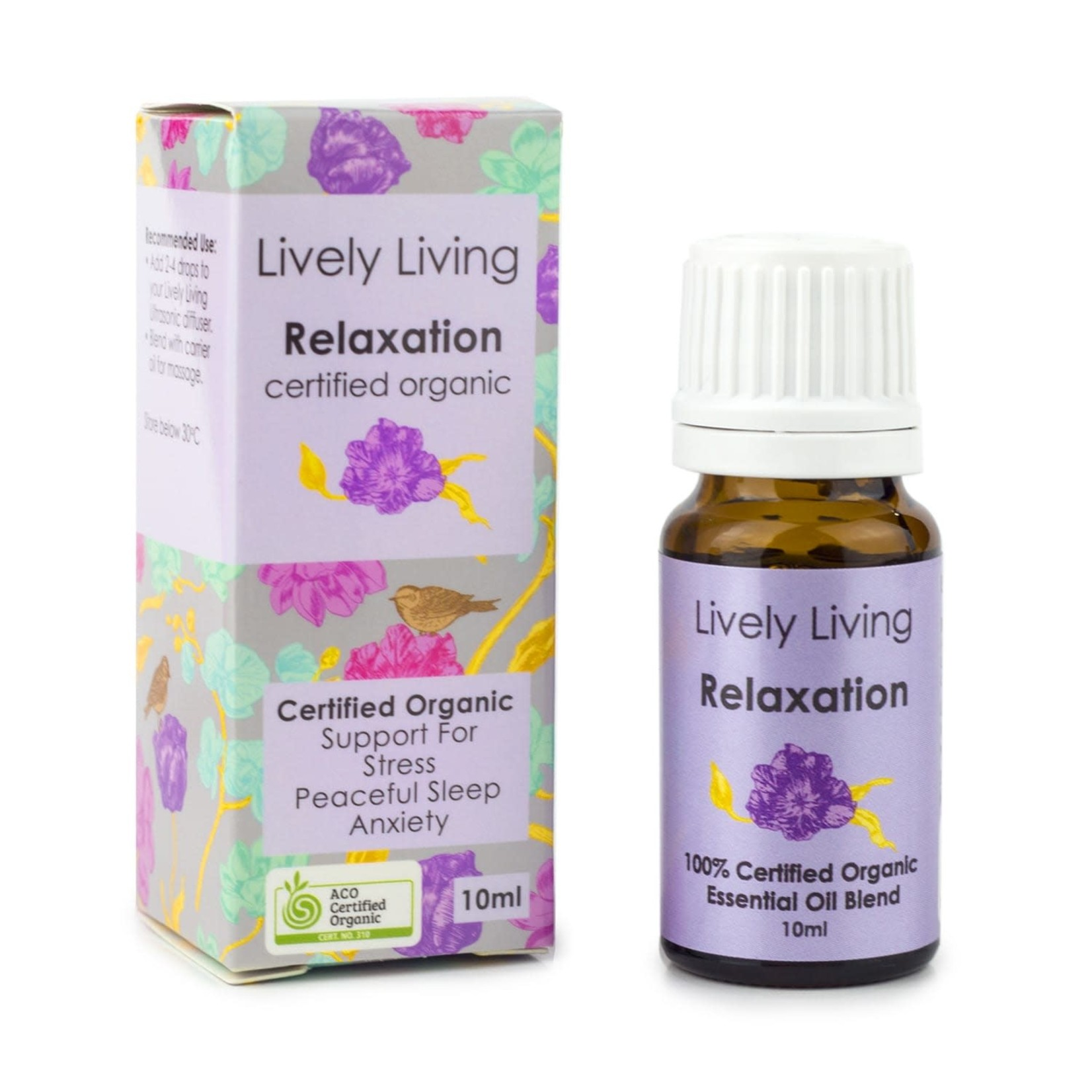 Lively Living Lively Living Organic Essential Oil 10ml Relaxation Blend