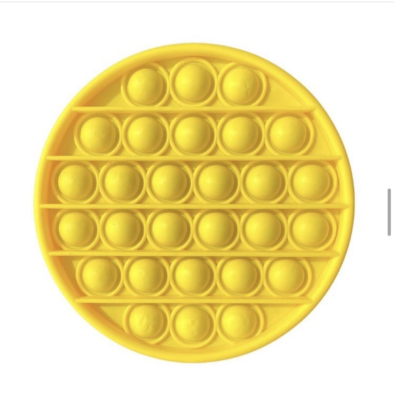 Family Products Australia POP IT Sensory Fidget toy Yellow Circle