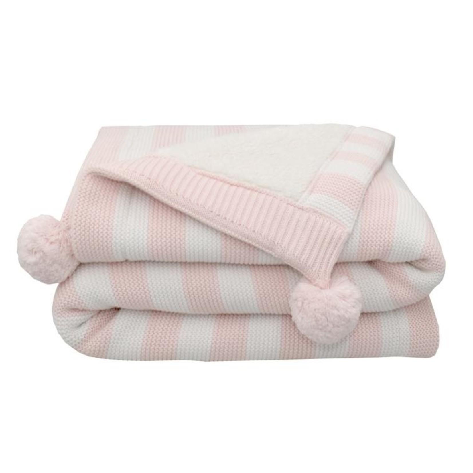 Living Textiles Living Textiles Sherpa Blanket - Blush