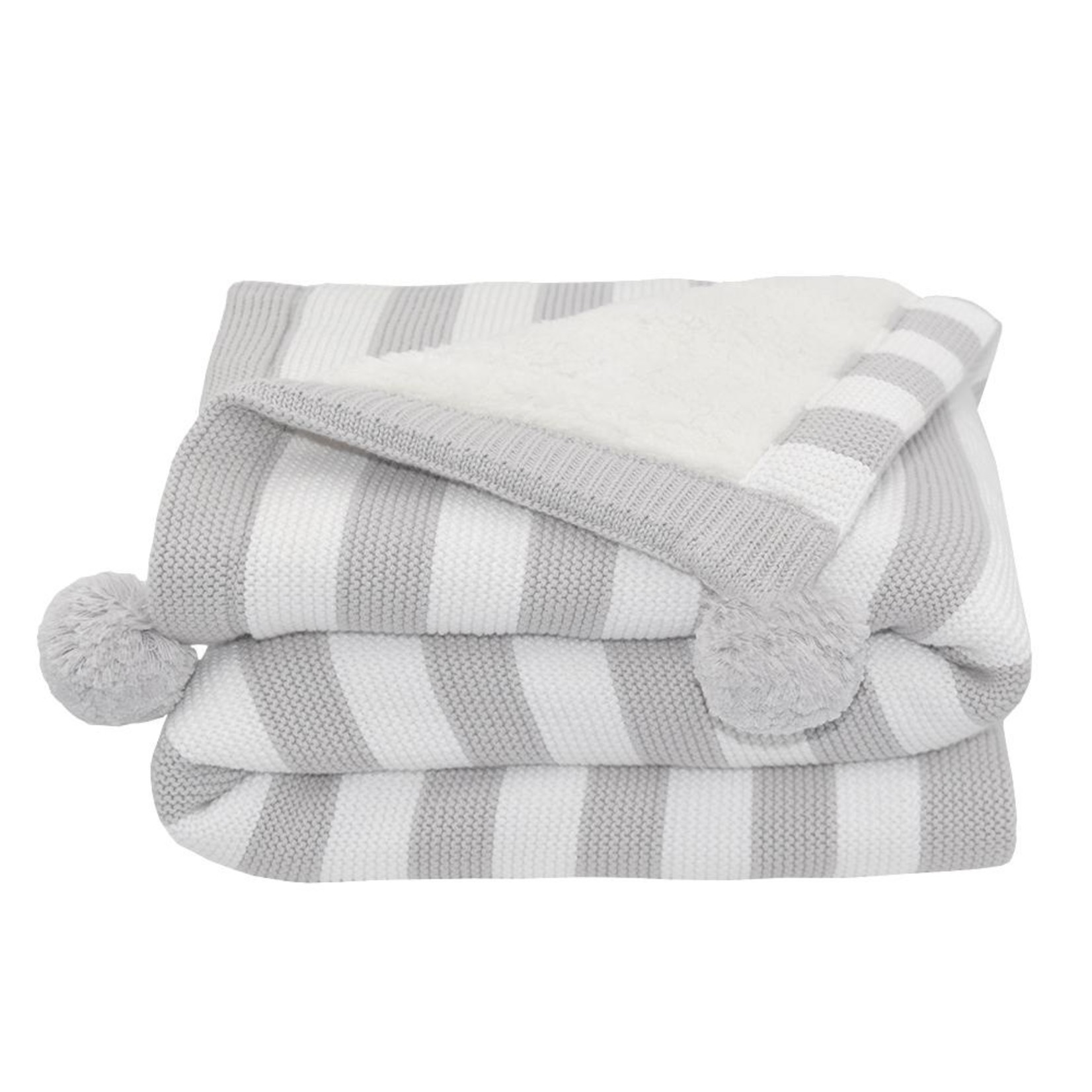 Living Textiles Living Textiles Sherpa Blanket - Grey
