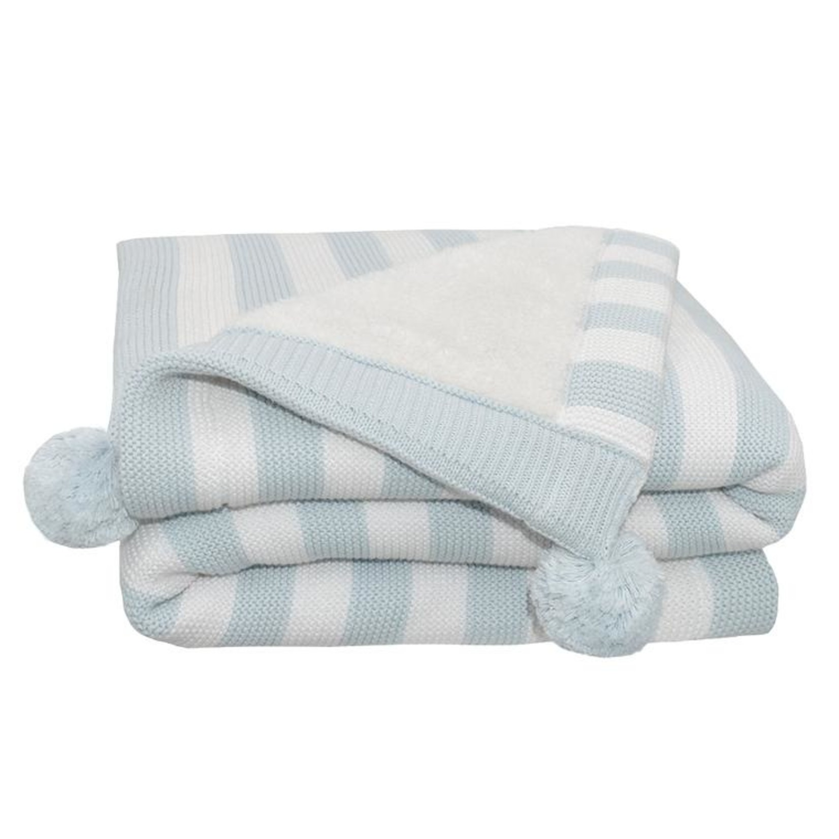 Living Textiles Living Textiles Sherpa Blanket - Blue