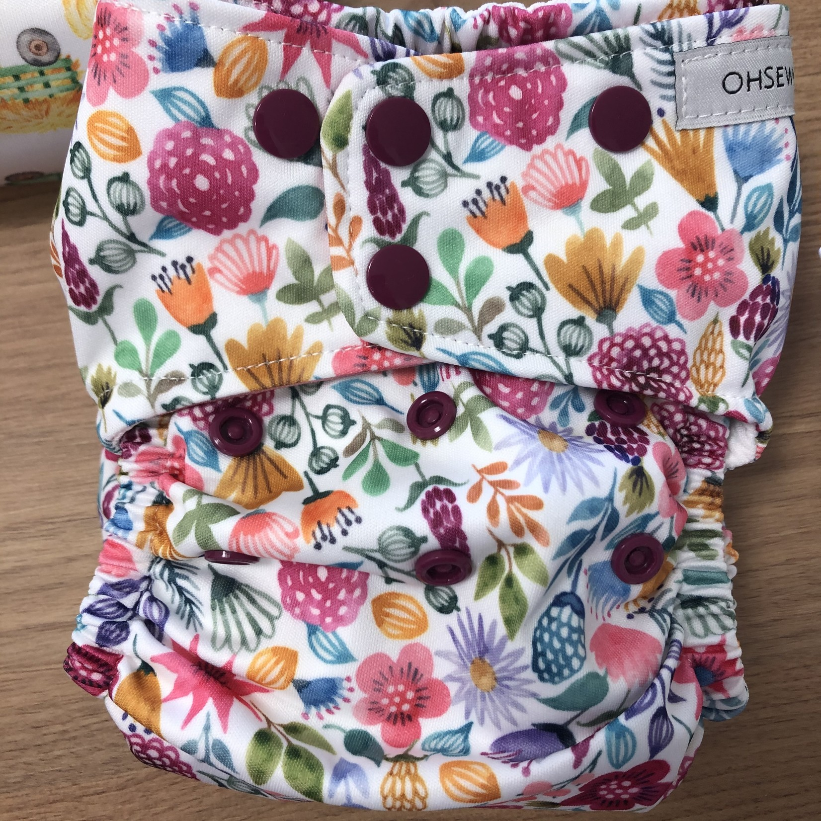 """Oh Sew Creative Oh Sew Creative """"Wild Floral"""" Double Row Nappy"""