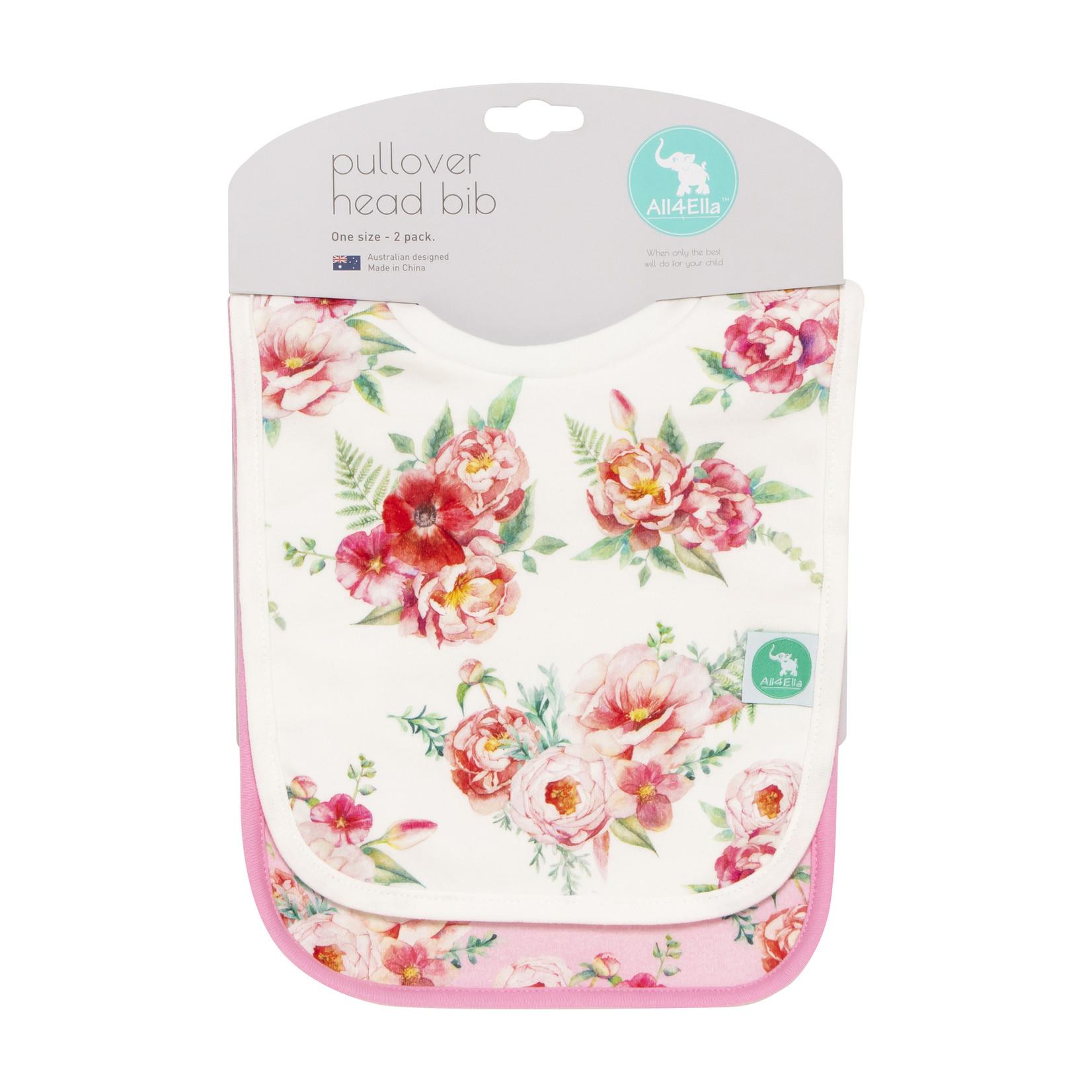 All 4 Ella All 4 Ella 2 Pack Pullover Bibs - Floral