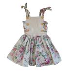 Penny's Pieces Penny's Pieces - Vintage Floral / Polka Dress**