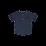 Babu Organic Muslin Grandpa Shirt- Navy