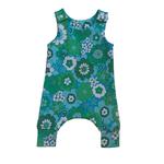 Mini Madz Mini Madz Knit Romper - Green Daisy