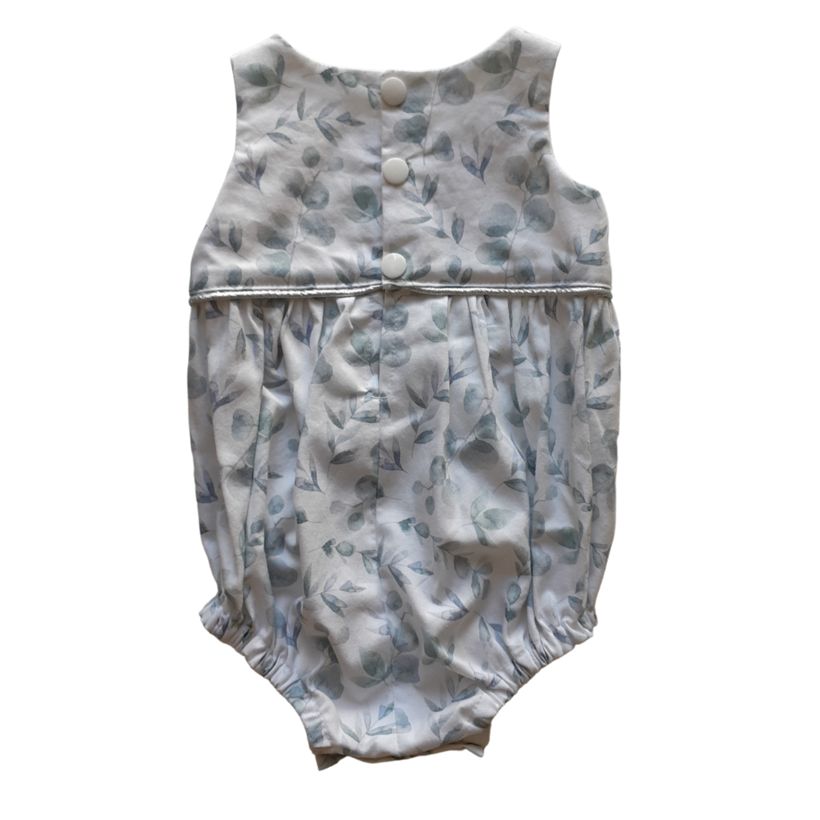 Penny's Pieces Pennys Pieces Eucalyptus Girls Piped Romper