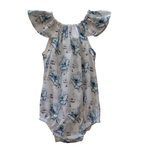 Cadby Cottage Cadby Cottage Seaside Romper Watercolour Blue Floral