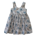 Cadby Cottage Cadby Cottage Scoop Back Dress Watercolour Floral 1
