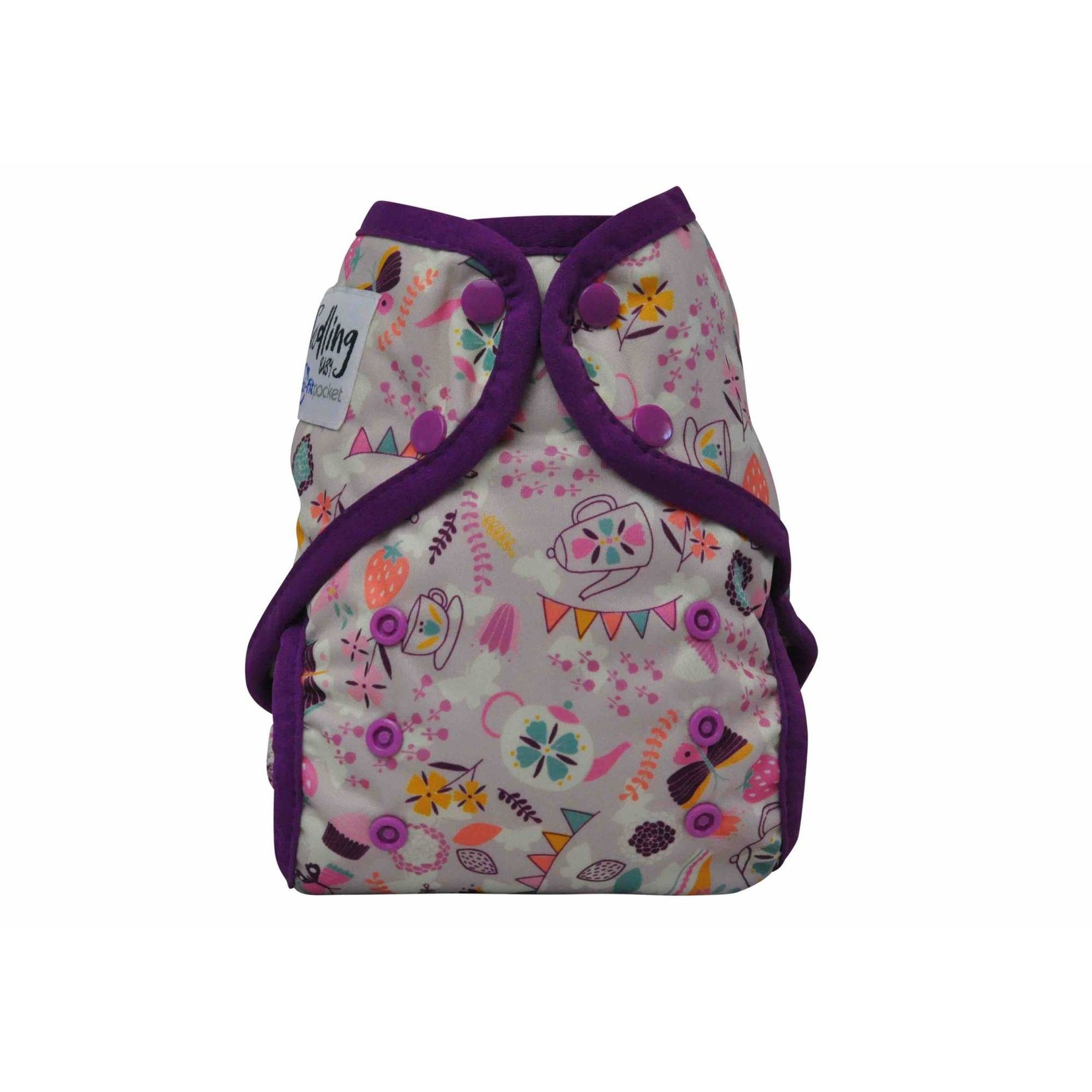 Seedling Baby Seedling Baby Multi Fit Nappy - Tea Party