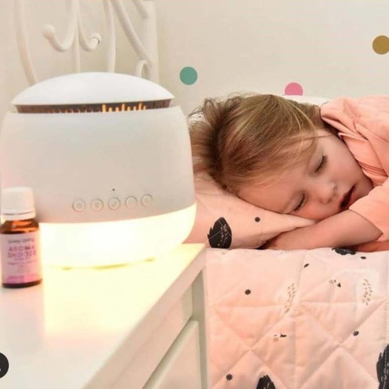 Lively Living Aroma-Snooze Diffuser + Organic Snooze Essential Oil