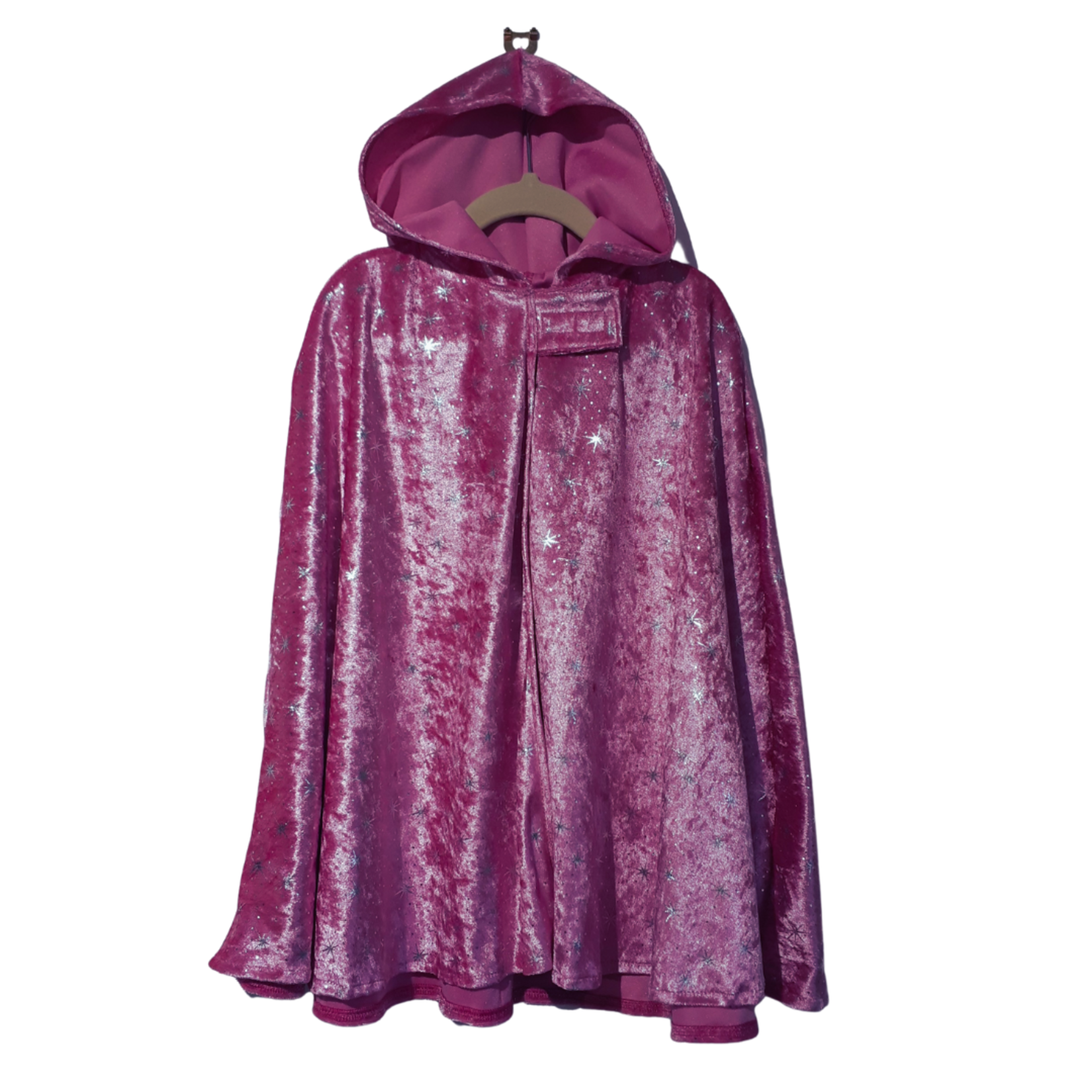 Wacky Wardrobe Wacky Wardrobe Cape Pink Star - Medium