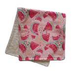Mini Madz Mini Madz Organic Burp Cloth - Watermelon (Pink Background)
