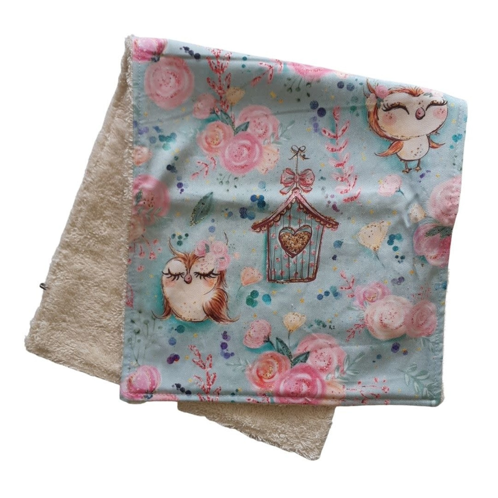 Mini Madz Mini Madz Organic Burp Cloth - Owls