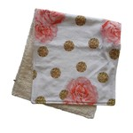 Mini Madz Mini Madz Organic Burp Cloth - Rose/Gold Dots