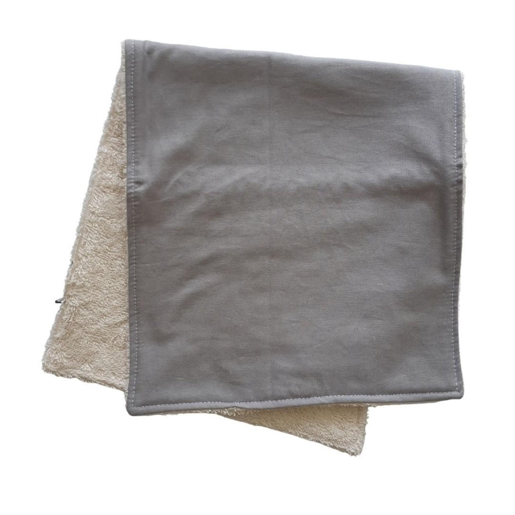Mini Madz Mini Madz Organic Burp Cloth - Solid Grey