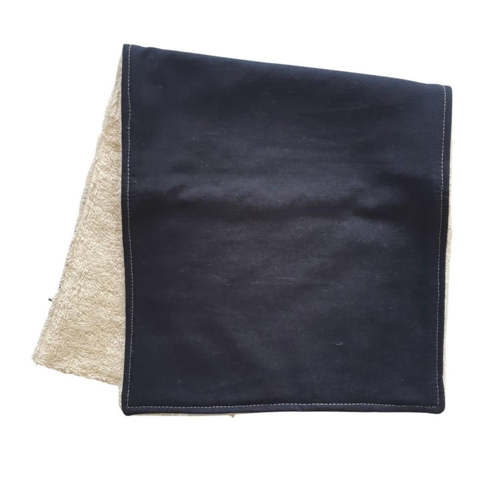 Mini Madz Mini Madz Organic Burp Cloth - Solid Navy